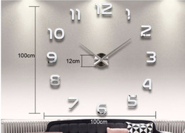 Wholesale Home Decoration Big Number Mirror Wall Clock Modern Design Large Wall Clock 3D Watch Wall Unique Gifts