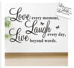 $enCountryForm.capitalKeyWord Australia - Live Laugh Love Alphabet Wall Stickers Removable Letter Butterflies Art Vinyl Mural DIY Self Adhesive Wall Decals