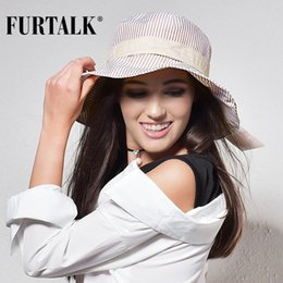 $enCountryForm.capitalKeyWord NZ - wholesale Summer Sun Hats for Women Fashion Design Women Beach Cotton Hat Foldable Brimmed Bucket Hat for Fishing