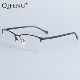c9d846694f Stainless Steel Eye Frames Australia - QIFENG Spectacle Frame Eyeglasses  Men Computer Optical Prescription Eye Glasses