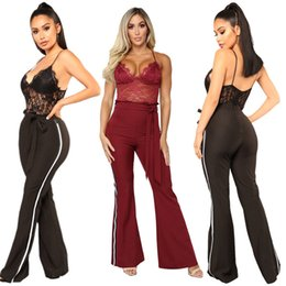 e61c45c2cd2 women jumpsuits new sling camis sexy nightclub lace backless one piece wide  leg pants Casual jumpsuits xl 811