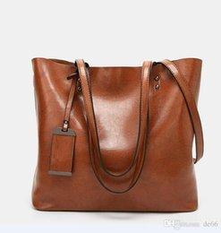 Bolso de mensajero de las mujeres de cuero ocasional de la borla bolsos diseñador de la vendimia del tamaño grande del hombro del totalizador del hombro bolsos de alta calidad 2020 nuevo estilo en venta