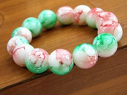 $enCountryForm.capitalKeyWord NZ - Religious beads bracelet large 14MM glass beads hand string men and women style beads bracelet paint discoloration