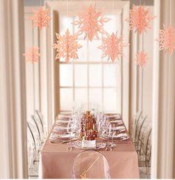 $enCountryForm.capitalKeyWord Australia - 6pcs set 3D Stereo Snowflake Hanging Ornaments Christmas Tree Decoration Home Wall Pendant for Party New Year Xmas