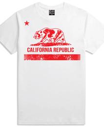 California Republic T Shirt Classic Bear Flag Logo Vintage Distressed White  Tee Men Women Unisex Fashion tshirt Free Shipping black aaea73e1864b