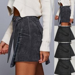 0697834f16 Sexy Cut Out Skirts Australia - Fashion Women Clothes Sexy Skirt Corduroy  Women Cross Lace Up
