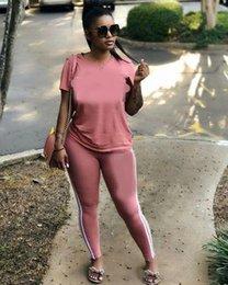 Love Pink Mujer Chándal Camiseta de Lentejuelas Tops y Pantalones Pantalones 2 UNIDS Conjunto PINK Carta Outfit Camisetas Casual Ropa Deportiva Ropa Sui