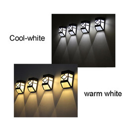 $enCountryForm.capitalKeyWord Australia - High Quality Wall Lamp Solar Light 2 LED Outdoor Garden Wall Path Yard Landscape Lighting Cool White Warm White