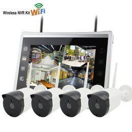 "12 Security Camera System Australia - Yobang Security 12""Monitor Wireless Security CCTV System Outdoor 960P IP Camera WIFI Waterproof Video Surveillance CCTV NVR Kit"