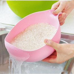 Rice Washing Filter Strainer Tools Creative Plastic Beans Peas Cleaning Gadget Useful Convenient kitchen tool LXL1103-1 on Sale
