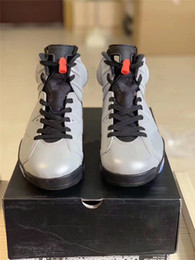 8b639916299 2019 Authentic Air JSP 6 Reflective Infrared Bugs Bunny 3M Silver Black  Infrared Basketball Shoes Men CI4072-001 Sneakers Sports With Box