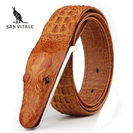 $enCountryForm.capitalKeyWord Australia - Mens Belts Luxury Cow Leather Designer Belt Men High Quality Ceinture Homme Cinto Masculino Luxo Crocodile Cinturones Hombre C19041101