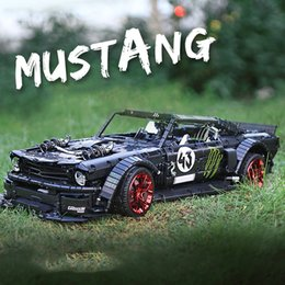 building remote control cars Australia - YX Ford Mustang RC Car Building Block Toys, DIY APP Control, Programmable, Gravity Induction, LED Lights, for Kid' Birthday' Christmas Gifts