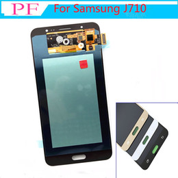 SamSung j7 replacement online shopping - AMOLED For Samsung Galaxy J7 J710 J710F J710FN J710M J710Y LCD Display LCDs Touch Screen Digitizer Assembly Replacement