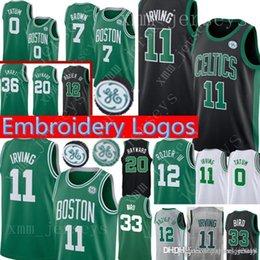 05e555dfc Boston Kyrie 11 Irving Celtics Jersey 7 Jaylen   Brown Jayson 0 Tatum Terry  12 Rozier Larry 33 Bird Gordon 20 Hayward 42 Horford Jerseys