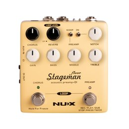 Acoustic Pedal Australia - NUX StageMan Floor Acoustic Guitar Preamp DI Multi Effects Pedal Chorus Reverb Freeze Guitar Acoustic Amplifiers
