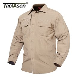 Black Military Clothes Australia - Tacvasen Men's Summer Tactical Shirts Quick Dry Army Shirt Military Clothing Long Sleeve Shirt Men Combat Shirts Td-jne-003-01 Y190506