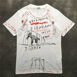 Hip Hop Graffiti T Shirt Australia - New Novelty 2019 Men VETEMENTS  Elephant Graffiti T Shirts 0e5ca01acea