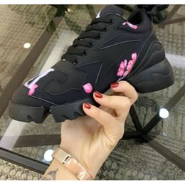 $enCountryForm.capitalKeyWord NZ - 2019 Fashion Paris Women's Sneaker Classic Letters Black Casual Shoes vacuum Outsole Increase 5CM Flower Triple S Casual Dad Shoes with box