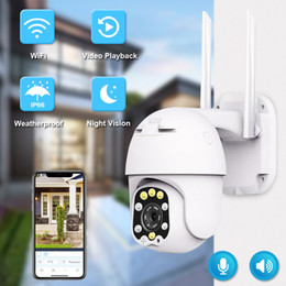 tilt network camera Canada - 1080P PTZ IP Camera Wifi Outdoor Dome Wireless Security Camera Pan Tilt Digital Zoom 2MP Network CCTV Surveillance Camera IP66