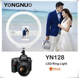 Wholesale YONGNUO YN128 II Photography LED Ring Light with Makeup Mirror Bicolor Beautify LED Selfie Lamp for iPhone Mobile Youtube makeup