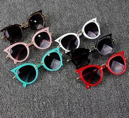Lindo Bebé Ojo de Gato Gafas de Sol Niños Animal de Dibujos Animados UV400 Gafas de Sol Gafas Gafas Para Niños Regalo de GirlsBoys