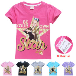 Discount boys christmas tshirts wholesale JOJO SIWA Girls T-shirts 6 Colors 6-14 years old Kids 100% Cotton Tee shirts Short sleeve tshirts kids  clothes SS102