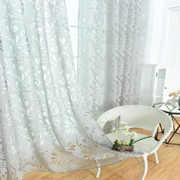 $enCountryForm.capitalKeyWord Australia - Home Use Phoenix Tail Pattern Curtain Window Gauze.Offer a modern and contemporary look and create a fantasy feelings.gray Sheer Curtains.