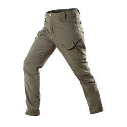 Warm Waterproof Pants Men Australia - 2019 Waterproof Tactical Softshell Pants Men Winter Warm Fleece Style Camo Combat Duty Trousers Cargo Trousers Male