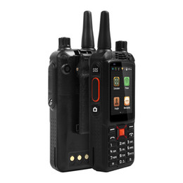 rugged gps UK - Original F22+ F22 Plus Android Smart outdoor Rugged Phone Walkie Talkie Zello PTT 3G Network intercom Radio Enhanced 3500mAh Battery DHL