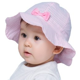 $enCountryForm.capitalKeyWord Australia - Cute Summer Spring Baby Boys Girls Print Caps Kids Cartoon Hat Sun Rabbit hat Enfant Baby Striped princess Hat Newborn Baby Accessories