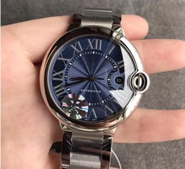 Blue Box Auto Australia - Brand Fashion Blue dial automatic mechanical men's stainless steel watch 42mm + with box