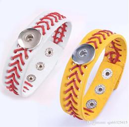 $enCountryForm.capitalKeyWord Australia - Softball sports bracelet Softball Baseball Leather Bracelet Yellow Fast Pitch Jewelry Team School Sports Bat Glove