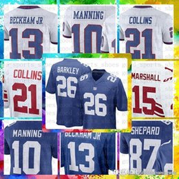06f1c668f Top Sale 26 Saquon Barkley New York Gaints Jersey 13 Odell Beckham Jr 10  Eli Manning 88 Evan Engram Marshall 11 Simms 21 Collins 87 Shepard