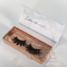 EyElashEs suppliEs online shopping - JOVO BEAUTY Supply D MM Long Mink Lash With Marble Eyelash Packaging Box Pair Soft Thick Styles D Real Mink Eyelashes