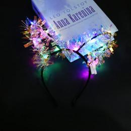 $enCountryForm.capitalKeyWord Australia - Luminous colorful gradient gold silk rabbit ears headband hair accessories night market hot sale light toys