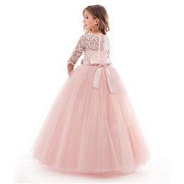 $enCountryForm.capitalKeyWord UK - Princess Party Dress For Girls Wedding Lace Flower Girl Dress Kids Birthday New Years Clothes 3 4 5 6 7 8 9 10 11 12 13 14 Years J190619