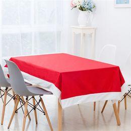 venda por atacado 132x208cm Ano Novo Natal Red retangular pano de tabela Xmas Ornamentos Partido Toalha Capa Cozinha Mesa de Jantar Detalhes no JK1910XB