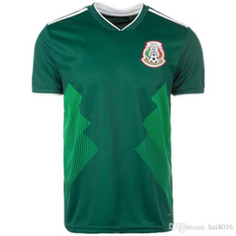 f9b143d3b77 2018 World Cup Mexico Soccer Jerseys H. LOZANO G. DOS SANTOS a. guardado  CHICHARITO R. JIMENEZ H. HERRERR Home Green White footballJersey