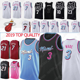 L basketbaLL jerseys online shopping - NCAA Dwyane Wade Goran7 Dragic Jerseys Hassan Whiteside Jersey AJ psg Mbappe new