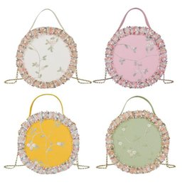 $enCountryForm.capitalKeyWord NZ - Fashion Women Round Small Shoulder Bag Pearl Flower Handbags Girls Chain Crossbody Totes for Ladies Travel Purse 2019 New