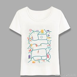 Tops Girl Shirt Design Australia - Autumn Lose Ourselves In Books Printed T-Shirt Summer Women T-shirt Casual Tops Funny Cartoon Design Cute Girl Tees Harajuku
