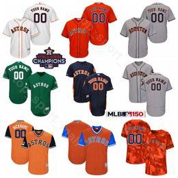 dfa4d4c196769 Houston Baseball Astros 5 Jeff Bagwell Jersey 34 Nolan Ryan 7 Craig Biggio  Jose Cruz Jimmy Wynn Mike Scott 2017 World Series Champions