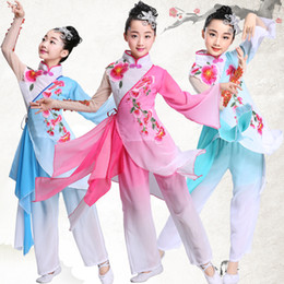 acd67fa70 Girls National Costumes Australia - Children's Chinese style Hanfu classical  dance costumes national girls fan dance