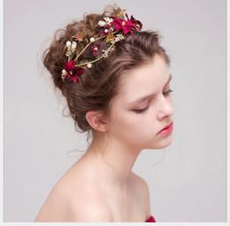 $enCountryForm.capitalKeyWord Australia - Bride flower headdress Wedding Toast dress, hairdress, beautiful bride jewelry
