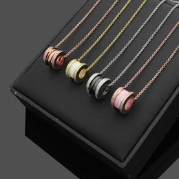 Black Diamond Powder Australia - High quality jewelry black and white powder ceramic with diamond necklace spring necklace love necklace for women men gift