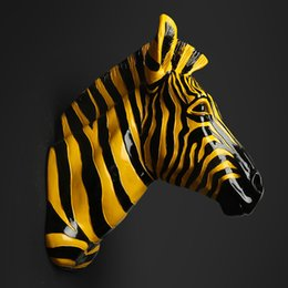 $enCountryForm.capitalKeyWord Australia - Home Decoration Accessories Furnishing Animal Spot Horse Pendant Wall Above The Mural Decorations Zebra Head Statue Sculpture
