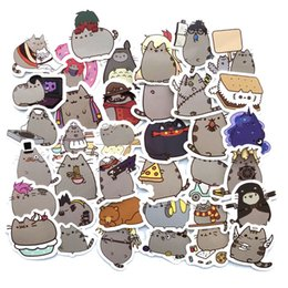 $enCountryForm.capitalKeyWord NZ - 100 pcs Cute Cartoon fat Emoji Cats Stickers for Mobile Phone Laptop Skateboard Snowboard Bicycle Bike Phone Waterproof Stickers