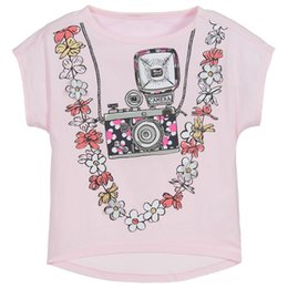 Baby Girl White T Shirts Cotton Breathable Designer Clothes for Kids Tees  Striped Unicorn Kids Clothing Tees d04e55017253