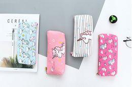 $enCountryForm.capitalKeyWord Australia - Cute Pencil Case Unicorn Canvas School Office Supplies Stationery Kawaii Unicorn Pencil Box Case Bag For Kids Children Gift